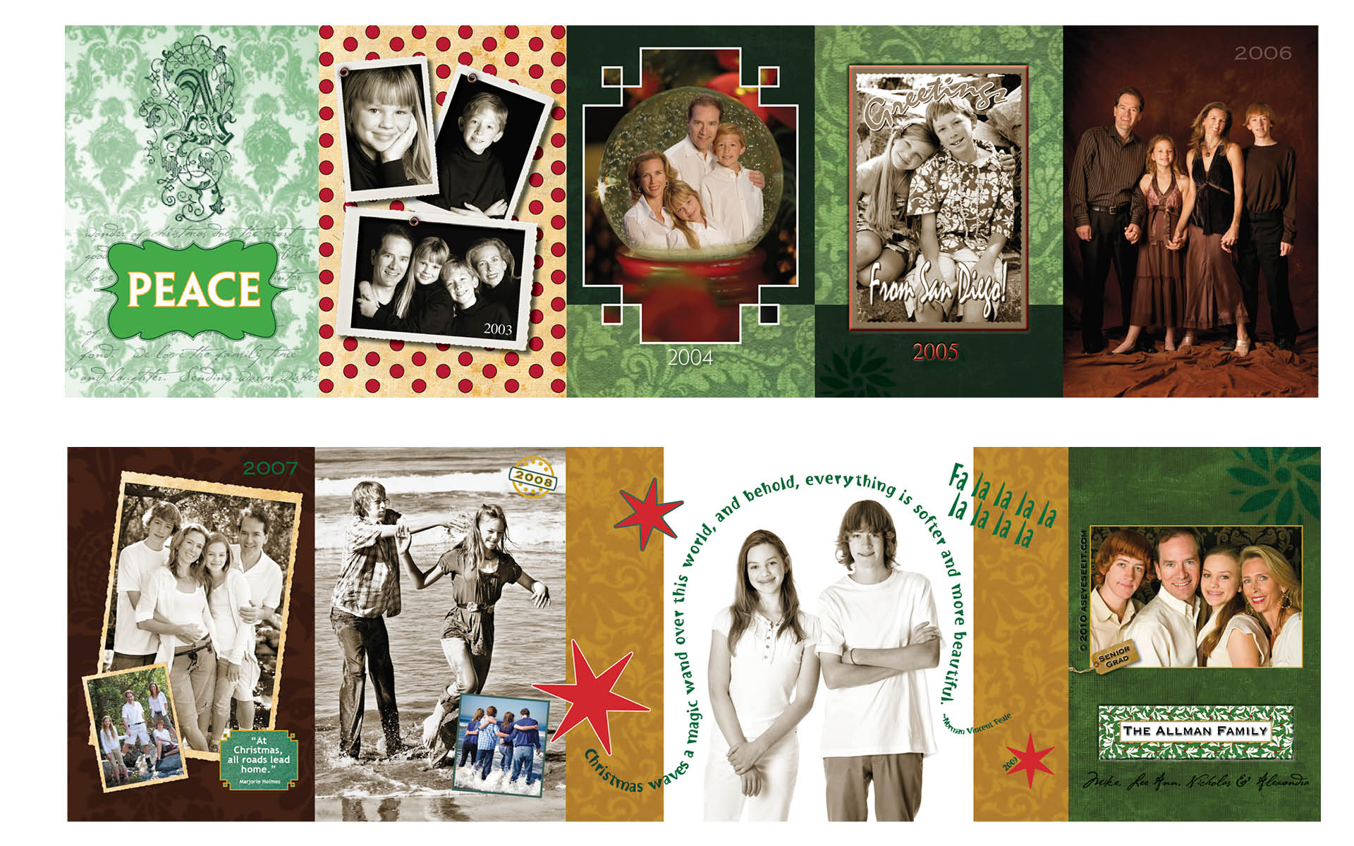 4x5.5 Accordian Fold Card